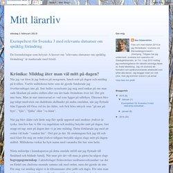 Mitt lärarliv: Exempeltext för Svenska 3 med relevanta slutsatser om språklig förändring