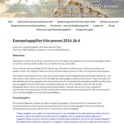 Exempeluppgifter från proven 2014, åk 6 « Nationella prov och bedömningsstöd för SO-ämnen