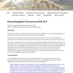 Exempeluppgifter från proven 2014, åk 9 « Nationella prov för SO-ämnen