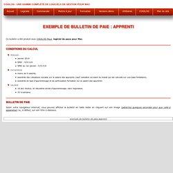 Exemple de bulletin de paie : apprenti
