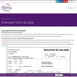 Exemple fiche de paie et modèle bulletin de salaire