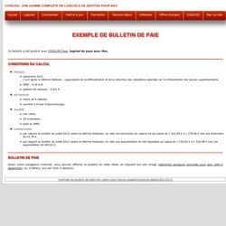 Exemple de bulletin de paie : salarié non cadre