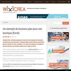 Un exemple de business plan pour une boutique (Excel)