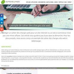▷▷ Exemple de cahier des charges site web