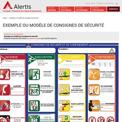 Exemple ou modèle de consignes de sécurité - Alertis