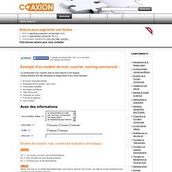 Exemple modèle de mail et courrier commercial