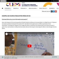 Exemple de cours d'éducation média en 3e- CLEMI