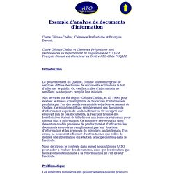Exemple d'analyse de documents d'information