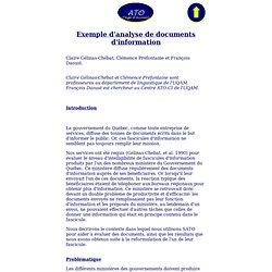 Exemple d'analyse de documents d'information