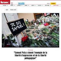 """""""Samuel Paty a donné l'exemple de la liberté d'expression et de la liberté pédagogique"""""""