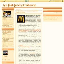 Mac Donald's : un exemple d'une implantation réussie en France - Les fast-food et l'obésité