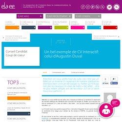 Un bel exemple de CV interactif: celui d'Augustin Duval