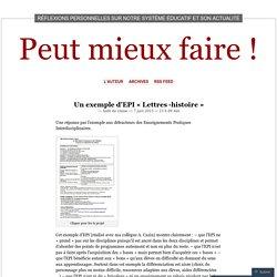 EPI Lettres -histoire