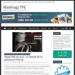 Exemple TPE ES : La liberté de la presse en France
