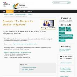 Exemple 1A - Molière Le Malade imaginaire - Lettres