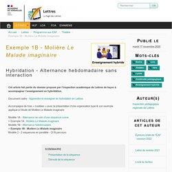 Exemple 1B - Molière Le Malade imaginaire - Lettres