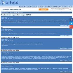 Exemple rapport de stage ancien DEAVS - Auxiliaire de vie sociale (DEAES)
