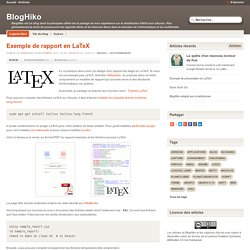 Exemple de rapport en LaTeX - BlogHiko