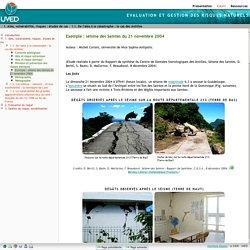 Exemple : séisme des Saintes du 21 novembre 2004