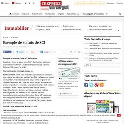 Exemple de statuts de SCI