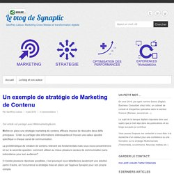 Un exemple de stratégie de Marketing de Contenu -