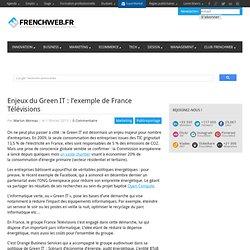 Enjeux du Green IT : l'exemple de France Télévisions