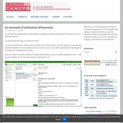 Un exemple d'utilisation d'Evernote