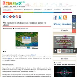 Un exemple d'utilisation de serious game en classe