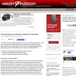Comment faire son site photo, dossier et 3 exemples