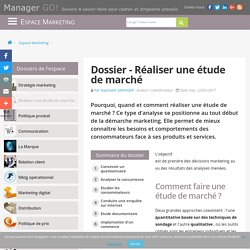 Etudes de marché et exemples d'analyses marketing