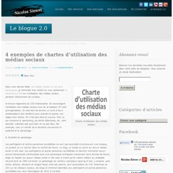 4 exemples de chartes d'utilisation des médias sociaux