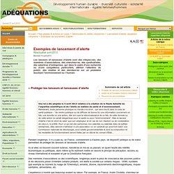 Exemples de lancement d'alerte - Site de l'Association ...