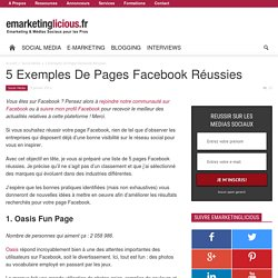 5 Exemples De Pages Facebook Réussies