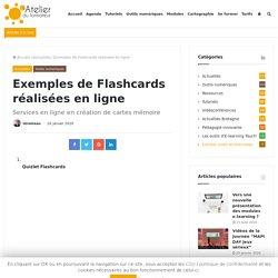 Exemples de Flashcards réalisées en ligne