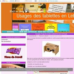 Exemples d'usage des lunettes cardboard en cours de français