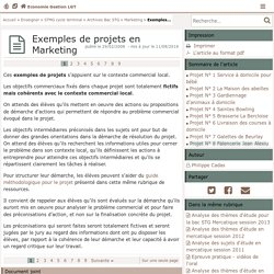 Exemples de projets en Marketing- Economie Gestion LGT