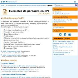 Exemples de parcours en EPI- Mathématiques