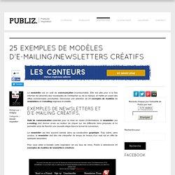 25 exemples de modèles d'e-mailing/newsletters créatifs
