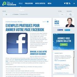 » Exemples pratiques pour animer votre page Facebook