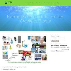 Exemples de produits certifiés Cradle to Cradle- EPEA Paris - France