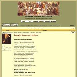 Exemples de sonnets réguliers