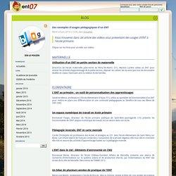 ENT07 - Des exemples d'usages pédagogiques d'un ENT - IEN Le Pouzin