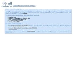 Exemples d'utilisation de Dbpedia