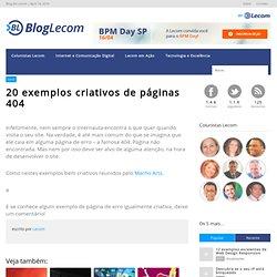 20 exemplos criativos de páginas 404