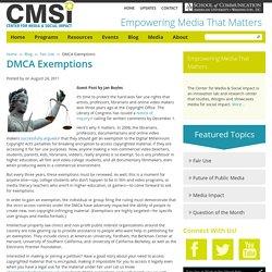 DMCA Exemptions