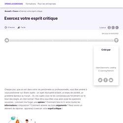 Exercer son esprit critique vis-à-vis d'Internet
