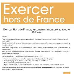Exercer Hors de France, je construis mon projet avec le SE-Unsa