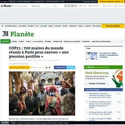COP21: 700 maires du monde réunis à Paris pour exercer «une pression positive»