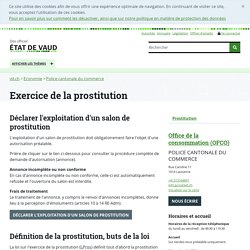Exercice de la prostitution