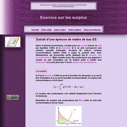 Exercice de surplus (bac ES)